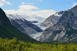 Nigardsbreen Glacier in the Jostedalen valley, Sogn.