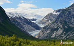 fjords wallpaper07Wallpaper from Nigardsbreen Glacier in Sogn. Luster in Sogn og Fjordane, Norway. Photo: www.fjords.com