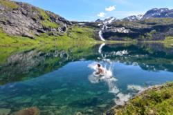 Lake Bakkevatnet in Isfjorden, Romsdal