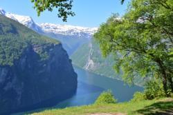 The Geirangerfjord seen from Ørnesvingen