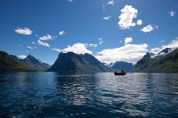 The Hjørundfjord at Sunnmøre