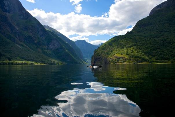 The Nærøyfjord. Aurland in Sogn og Fjordane, Norway. Photo: www.fjords.com
