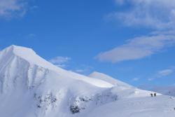 Fjord Skiing in Romsdal. Mt. Kirketaket in Isfjorden.