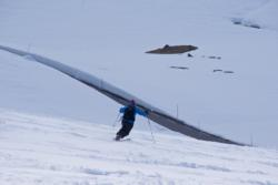 Skiing at Sognefjell.