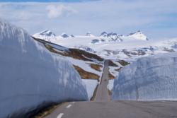 The Sognefjell Mountain Road and the Smørstabbtindene Mountains.