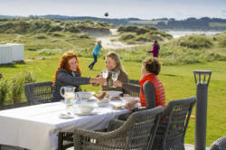 Lunch on the terrace outside the Beach Bar. Photo:  CH, Visitnorway.com