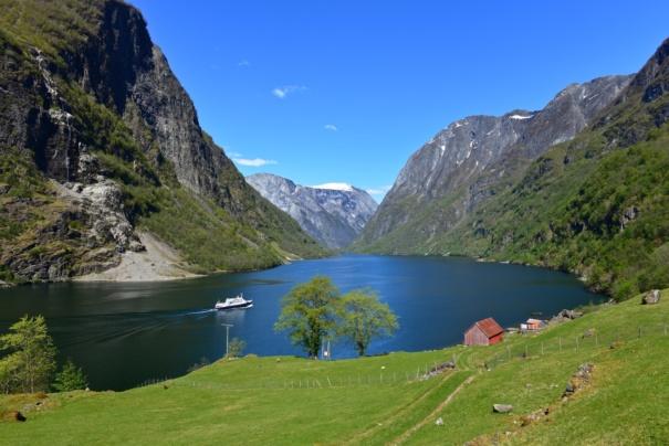 Fjordcruise on the Nærøyfjord. Sogn og Fjordane, Norway. Photo: www.fjords.com