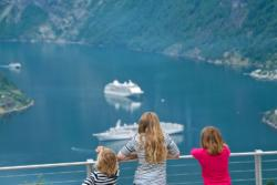 The Geirangerfjord seen from Skageflå Viewpoint. Photo:  www.fjords.com