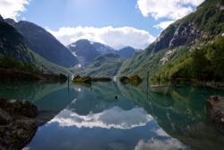 Lake Bondhusvatnet in Sundal. Kvinnherad in Hordaland, Norway. Photo: www.fjords.com