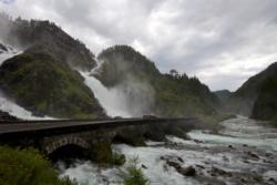 Låtefossen Waterfall in the Oddadalen Valley, Odda in Hardanger. Hordaland, Norway. Photo: www.fjords.com