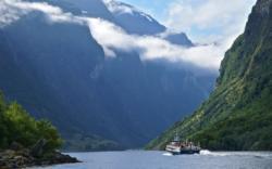 The Nærøyfjord, view towards Gudvangen. Sogn og Fjordane, Norway. Photo: www.fjords.com