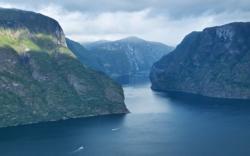 The Aurlandsfjord seen from Stegastein Lookout. Sogn og Fjordane, Norway. Photo: www.fjords.com