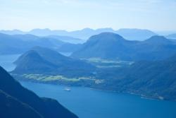 The Romsdalsfjord seen from Romsdalseggen. Photo: www.fjords.com