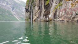 Kayaking the Geirangerfjord.
