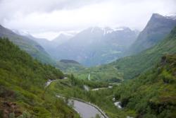The road between Geiranger and Mt. Dalsnibba.