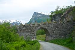 """""""Knuten"""" at the old road between Geiranger and Mt. Dalsnibba."""