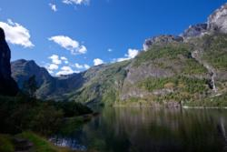 Hiking along the Nærøyfjord