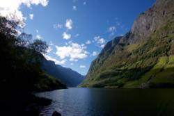 Bleiklindi - The starting point of the hike along the Nærøyfjord