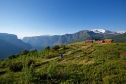 From the hike to Hovdungo in Aurland. Hovdungo Mountain pasture to the right.