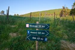 The starting point of the hike to Hovdungo. Well marked trail.