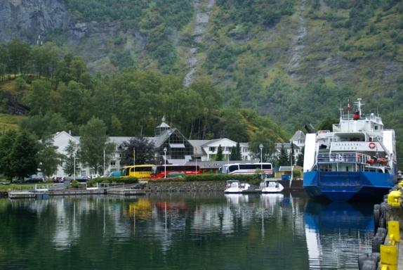 Flåm, down by the Aurlandsfjord.  Photo: www.fjords.com