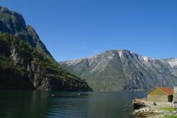 Hiking along the Nærøyfjord, Styvi. Photo: www.fjords.com