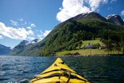 Kayaking the Hjørundfjord