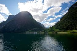 Undredal seen from the kayak