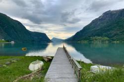 Skjolden at the inner part of the Lustrafjord