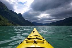 Kayaking the Lustrafjord
