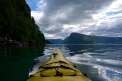 Kayaking the Lustrafjord