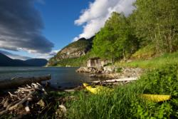 Boat House by the Lustrafjord