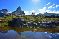 View from Mt. Litlefjellet towards Mt. Romsdalshorn and Trollveggen.