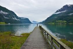 Skjolden and the Lustrafjord.
