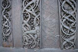 Wood Carvings on the Northern Wall of Urnes Stave Church.