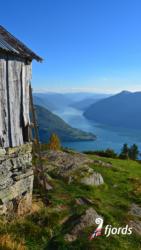 033 iphoneSvarthiller Mountainfarm above the Lustrafjord. Sogn og Fjordane, Norway.