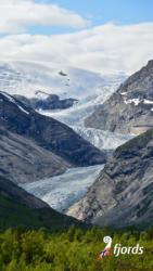 055 iphoneNigardsbreen Glacier in the Jostedalen Valley in Luster. Sogn og Fjordane, Norway.