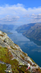 057 iphoneView from Mt. Molden towards the Lustrafjord. Luster in Sogn og Fjordane, Norway.