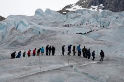 Glacier Walk on the Nigardsbreen Glacier in Jostedalen.