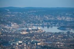 Oslo and the Oslofjord seen from Frognerseteren.