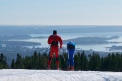 The Oslofjord seen from Holmenkollen Ski Area.