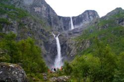 Mardalsfossen Waterfall in Eikesdal, Romsdal.