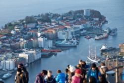 View from Fløyen in Bergen