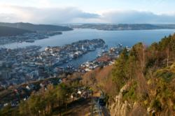 View from Fløyen in Bergen
