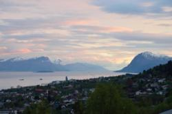 The outer part of the Romsdalsfjord seen from Molde