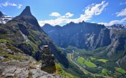 Romsdalshorn and Trollveggen seen from Litlefjellet