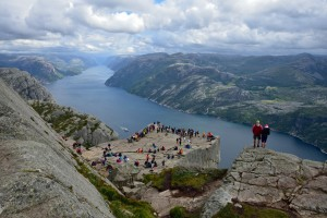 Preikestolen (the Pulpit Rock) and the Lysefjord