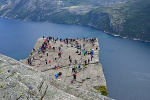 Preikestolen (the Pulpit Rock) and the Lysefjord.