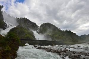 Låtefoss Waterfall in the Oddadalen Valley