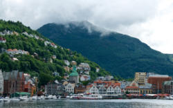 Bergen, Bryggen to the left and not possible to see on the picture. Hordaland, Norway. Photo: www.fjords.com